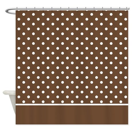 Brown With White Dots 2 Shower Curtain By MarloDeeDesignsShowerCurtains