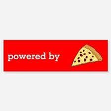 Powered By Pizza Bumper Bumper Sticker
