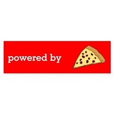 Powered By Pizza Bumper Sticker