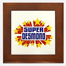 Desmond the Super Hero Framed Tile
