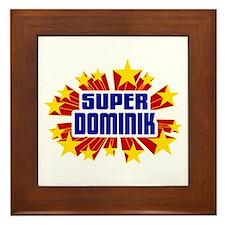 Dominik the Super Hero Framed Tile