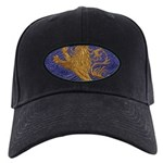 Rampant Lion - gold on blue Baseball Hat