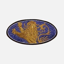 Rampant Lion - gold on blue Patches