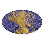 Rampant Lion - gold on blue Sticker