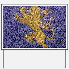 Rampant Lion - gold on blue Yard Sign