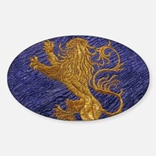 Rampant Lion - gold on blue Decal