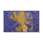 Rampant Lion - gold on blue Car Magnet 20 x 12
