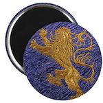 Rampant Lion - gold on blue Magnet