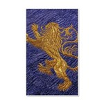Rampant Lion - gold on blue Wall Decal