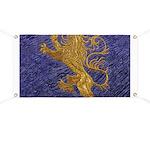 Rampant Lion - gold on blue Banner