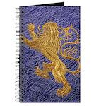 Rampant Lion - gold on blue Journal