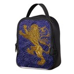 Rampant Lion - gold on blue Neoprene Lunch Bag