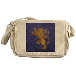 Rampant Lion - gold on blue Messenger Bag