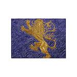 Rampant Lion - gold on blue 5'x7'Area Rug