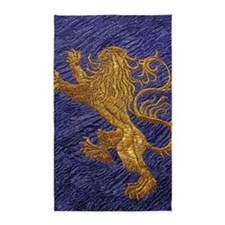 Rampant Lion - gold on blue 3'x5' Area Rug