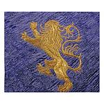 Rampant Lion - gold on blue King Duvet