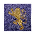 Rampant Lion - gold on blue Queen Duvet
