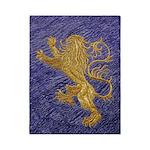 Rampant Lion - gold on blue Twin Duvet