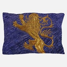 Rampant Lion - gold on blue Pillow Case
