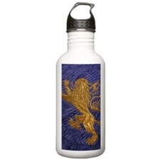 Rampant Lion - gold on blue Water Bottle