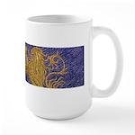 Rampant Lion - gold on blue Mug