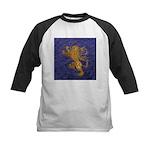 Rampant Lion - gold on blue Baseball Jersey