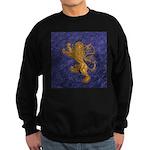 Rampant Lion - gold on blue Sweatshirt