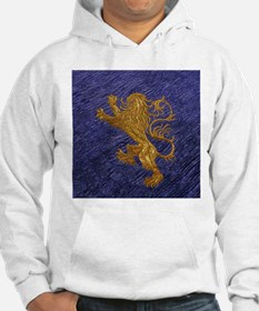 Rampant Lion - gold on blue Hoodie