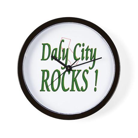 Daly City Rocks ! Wall Clock