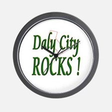 Daly City Rocks ! Wall Clock
