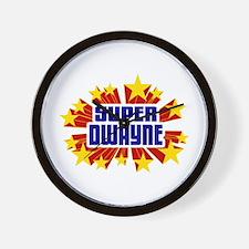 Dwayne the Super Hero Wall Clock
