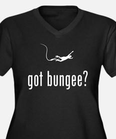 Bungee Jumping Women's Plus Size V-Neck Dark T-Shi