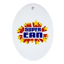 Ean the Super Hero Ornament (Oval)
