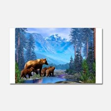 Mountain Grizzly Bears Car Magnet 20 x 12