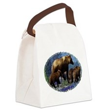 Mountain Grizzly Bears Canvas Lunch Bag