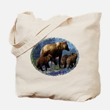 Mountain Grizzly Bears Tote Bag