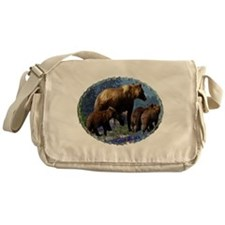 Mountain Grizzly Bears Messenger Bag