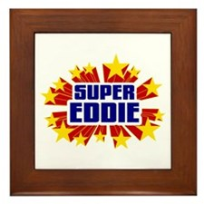 Eddie the Super Hero Framed Tile
