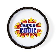 Eddie the Super Hero Wall Clock