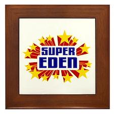 Eden the Super Hero Framed Tile