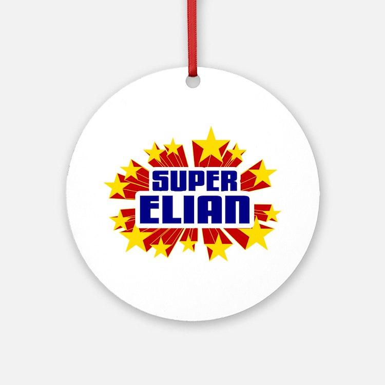 Elian the Super Hero Ornament (Round)