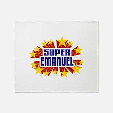 Emanuel the Super Hero Throw Blanket