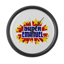 Emanuel the Super Hero Large Wall Clock