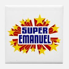Emanuel the Super Hero Tile Coaster