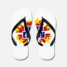 Emery the Super Hero Flip Flops