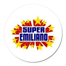 Emiliano the Super Hero Round Car Magnet