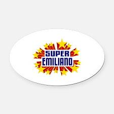 Emiliano the Super Hero Oval Car Magnet