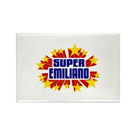 Emiliano the Super Hero Rectangle Magnet (10 pack)