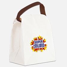 Emiliano the Super Hero Canvas Lunch Bag