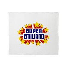 Emiliano the Super Hero Throw Blanket